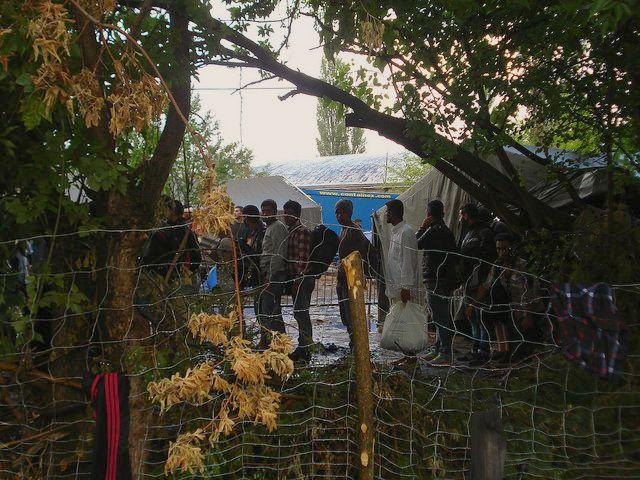 Migrants and refugees transiting Serbia. Cerdit: Caritas Serbia