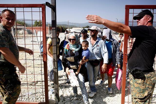 Migrants waiting to board a train in in Gevgelija, Macedonia heading to Serbia. Credit Matthieu Alexandre/Caritas Internationalis