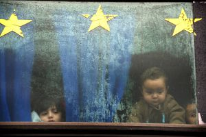 Serbia kids on the bus