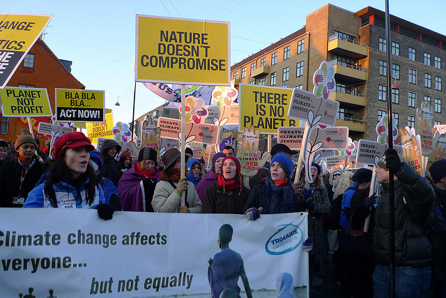 Campaigning for action on Climate Change. Photo by Trocaire