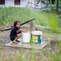 New water system provided by Caritas in a village in Leyte island. Photo by Lukasz Cholewiak/Caritas.
