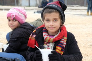 Love in a cold climate for refugees crossing Macedonia