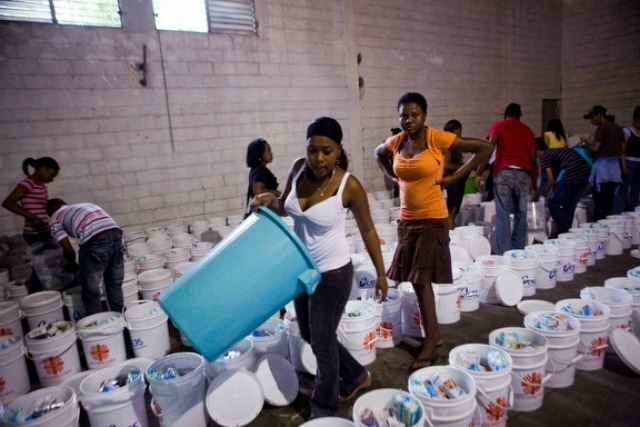 The Catholic Relief Services' Dominican warehouse in full flow. Credit: Katie Orlinsky/Caritas