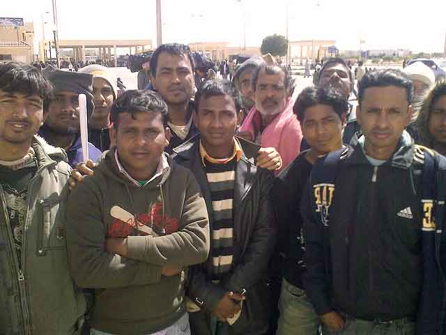 Migrant workers from Bangladesh in Egypt.