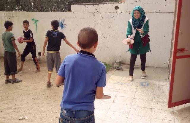 Caritas psychosocial program for children in Gaza.