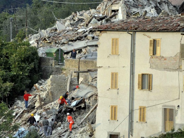 An earthquake in central Italy has caused severe destruction. Credit: Caritas Italiana