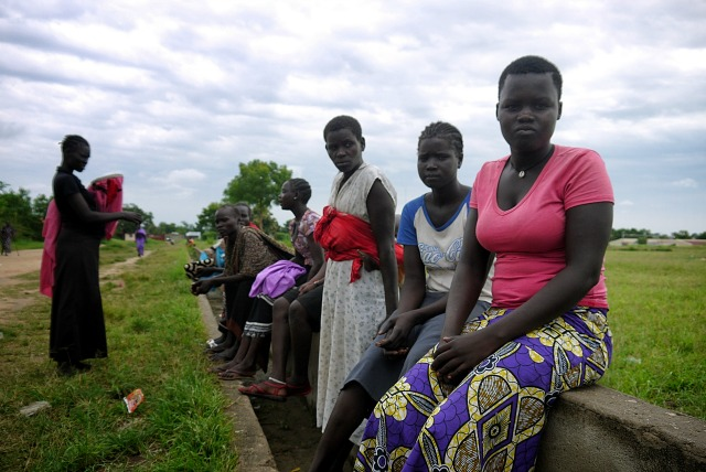 People flee to churches with fresh fighting in South Sudan as Caritas seeks to provide aid. Credit: Mark Mitchel/Caritas