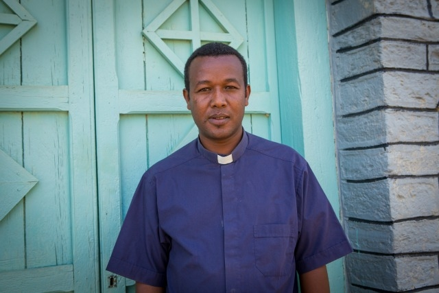"""Father Solomon is working on the frontline of the humanitarian crisis with support from other Catholic agencies. """"The collaboration we have is a lifeline, together we are working to reach the most vulnerable in communities with direct cash transfers and cash for work."""""""