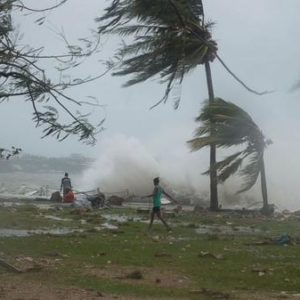 Deadly cyclone slams into South Pacific islands
