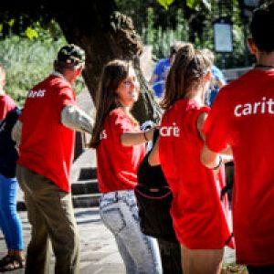 Cardinal Tagle and young Caritas inspiring World Youth Day pilgrims