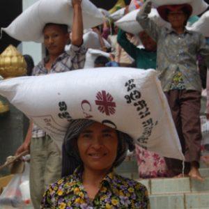 Caritas Cambodia awarded medal for flood response work
