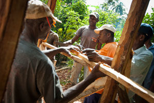 Rebuilding rural housing in Haiti