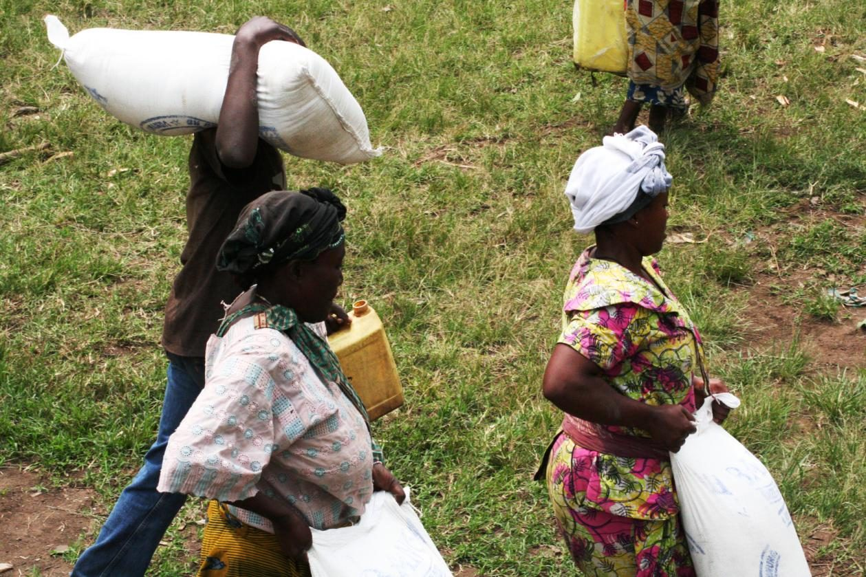 Caritas food aid gets though in eastern Congo