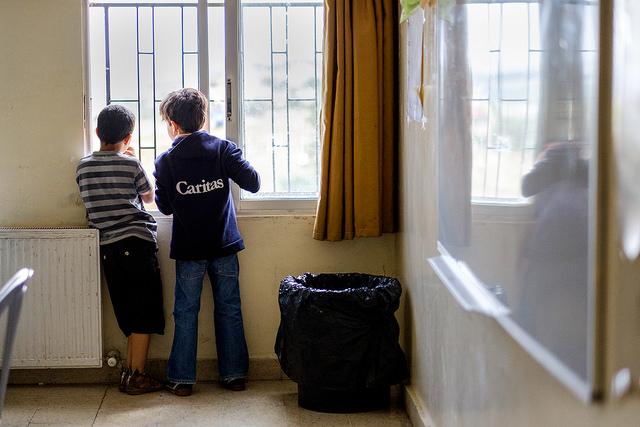 Ecole à Madaba, Jordanie, assistée par Caritas.