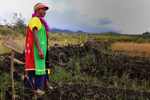Woman from Tupu Village, Mt Hagen Diocese in Papua New Guinea's Western Highlands Province, where Caritas provided assistance as part of its El Nino response programme. Photo by Mark Mitchell, Caritas Aotearoa New Zealand