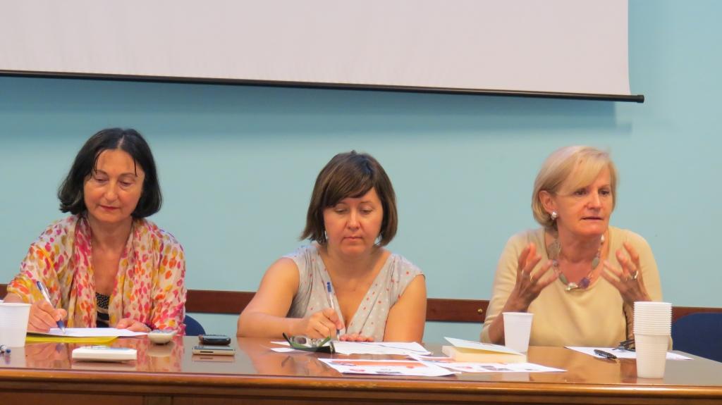 Maria Suelzu, Caritas; Raffaella Maioni, Acli and Livia Turco, Fondazione Nilde Iotti