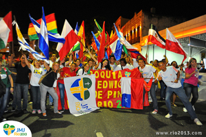 Groups of young people from national Caritas organisations from all over the world will travel to celebrate World Youth Day with Pope Francis in Brazil.