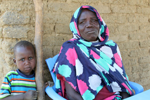 Dahwia, a woman who lost most of her fingers to leprosy, receives essential items and medical care from NCA. Credit: Sheahen/Caritas