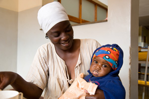 Caritas works with mothers and children and HIV affected people in Zimbabwe. Credits: David Snyder/Caritas