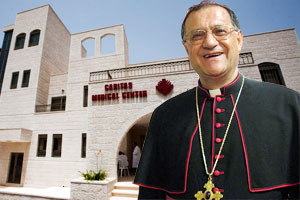 His Beatitude Fouad Twal, Latin Patriarch of Jerusalem and President of Caritas Jerusalem and Caritas-run Aboud Health Center in the West Bank. Credits: Orlansky/Caritas