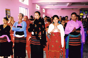Caritas works to prevent at-risk young women from falling victim to traffickers by holding informative workshops. Credits: Caritas Nepal