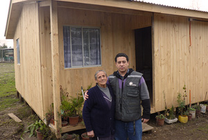 Temporary shelter in Maule provide by Caritas for survivors of the February earthquake. Credits: Caritas Chile