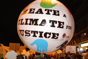 The climate justice balloon. Credits: Caritas Denmark