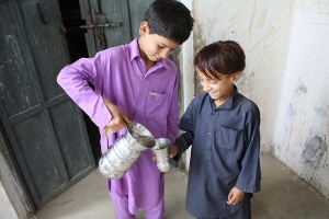 Throughout northern Pakistan, CRS repaired dozens of systems, bringing clean water to over 200,000 people hit by the flood. Credits: CRS