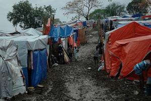 Heavy rains caused major flooding in Pétionville Club, Port-au-Prince. Credits: Caritas/Mathilde Magnier