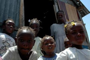 Children from Little Haïti in Cité Soleil, one of the largest slum of Port-au-Prince where over 350 000 people are living. Most children in Little Haïti attend the salesian schools supported by Caritas. Credits: CARITAS/ MathildeMagnier