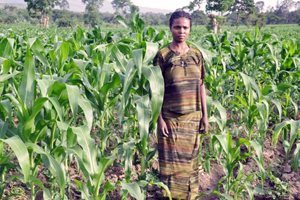 Hanna Loha showing her farm, looking forward to a change for the better Credits: Ethiopian Catholic Secretariat