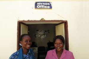 The SCC-HIV team in front of their office Credits: Caritas