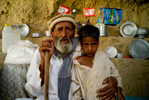 Sheirin and his nephew received aid during the Swat crisis. Credits: Hamish Cairns/Caritas