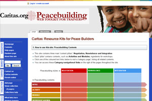 """Caritas launched """"Peacebuilding: Web Toolkit for Trainers"""" to provide an unrivalled resource for designing peace building workshops."""