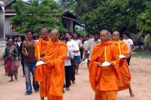 Caritas Cambodia take part in a HIV vigil led by Buddhist monks Credits: Caritas