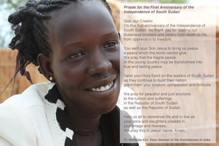 Prayer for South Sudan's one year anniversary
