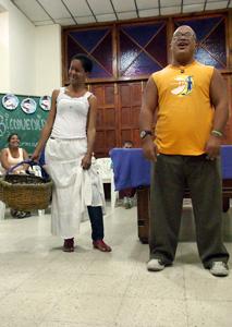 Singing and dancing at Caritas Cuba. Credits: Worms/Caritas