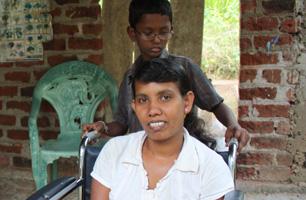 Chandrangani Gunathilaka back safe at home with her family in Sri Lanka. Credits: Laura Sheahen/CRS