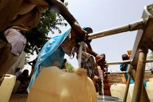 Water point in Garsila IDPs camp Credit: Mohammed Noureldin/ACT Caritas