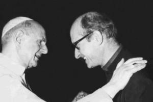 Msgr.Giovanni Nervo, founding president of Caritas Italy, with Pope Paolo VI Credits: Caritas Italia