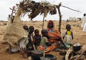 Millions of people in Darfur rely on aid agencies or the UN for food, healthcare, education and shelter. Credits: Caritas