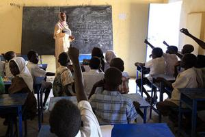 In Darfur there has always been a lack of schools, resources and qualified teachers. Caritas supported the construction of permanent class rooms at different schools Credits: Mohamed Nureldin/Act Caritas 2010