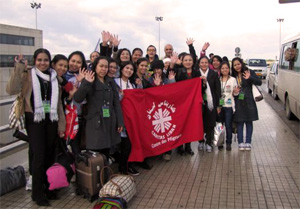 Filipino citizens before leaving the Beirut airport Credits: Caritas Lebanon