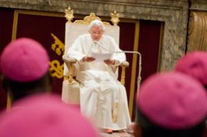 Pope Benedict XVI reaffirmed the Holy See's support for Caritas Internationalis. Credits: Elodie Perriot/Caritas