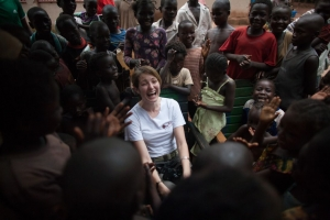 Catherine Mahony in Bangui, Central African Republic. Credit: Matthieu Alexandre/Caritas