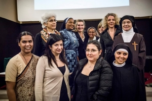 "Women testimonies in ""Voices of Faith"". Photo by Luca Catalano Gonzaga"