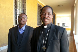 Bishop Laurent Lompo and Raymond Yoro of Caritas Niger. Credit: Caritas