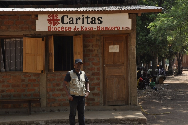 Caritas is the last aid agency left in the town where 23,000 people seek saftey on church property. Credit: MINUSCA