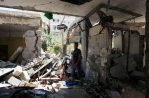 The family home was completely destroyed in the attack. Credit Caritas Jerusalem.