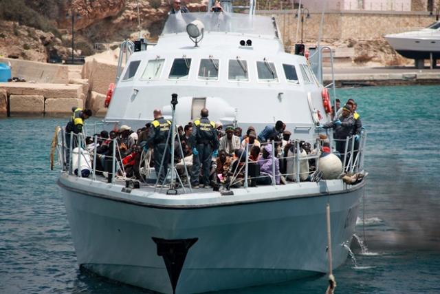 Migrants arriving at Lampedusa. Credit: Caritas